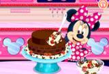 Minnie Mouse čokoládová torta