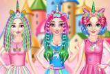 Princesses Rainbow Unicorn Hair Saló