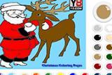 Santa Reindeer Coloring