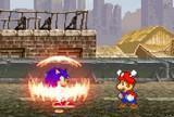 Sonic vs mario fight